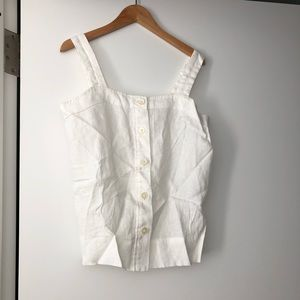NWOT Everlane White Linen Picnic Top Size 0